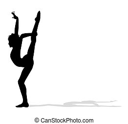 acrobat dancer - silhouette of acrobat dancer