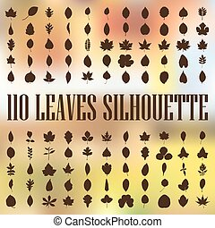 110 tree leaves silhouette - 110 high quality tree leaves...
