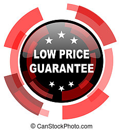 low price guarantee red modern web icon