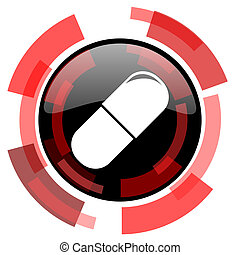 drugs red modern web icon