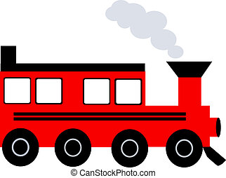 Train	 - Illustration of an a train with smoke