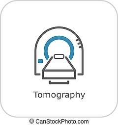 Tomography Icon. Flat Design. - Tomography Icon. Flat Design...