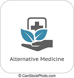 Alternative Medicine Icon Flat Design - Alternative Medicine...