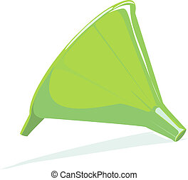 Funnel - Illustration of a green colour funnel