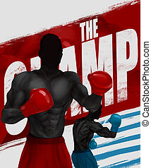 Boxers illustration. - Illustration of a black and white...