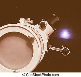 Retro looking Astronomical telescope - Vintage looking...