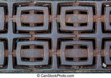 Metal Grate Background