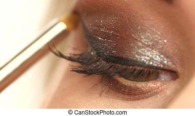 beauty eye with long eyelashes. close up