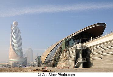 Metro Station in Dubai, United Arab Emirates