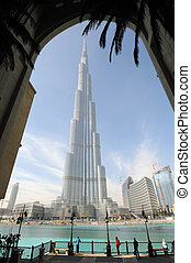Highest Skyscraper in the World - Burj Khalifa, Dubai United...