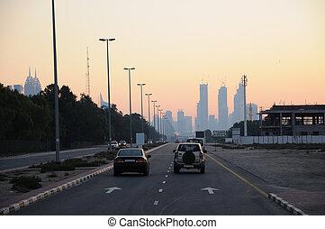 Street in Dubai, United Arab Emirates