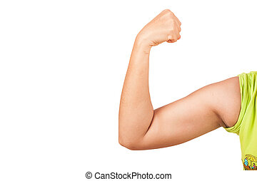 women show big arm,arm muscles