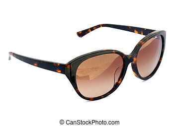 Image of sunglasses on a white background