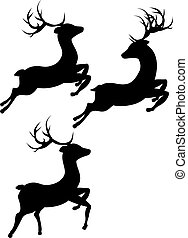 Cartoon Deer Silhouette - Abstract black silhouette of a...