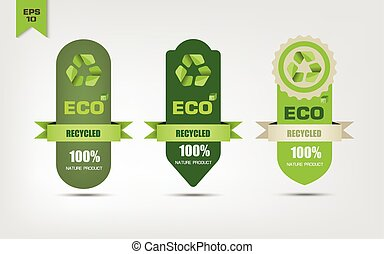 Ecological recycle labels