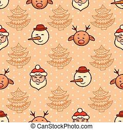 christmas pattern 3 - Set of christmas vector seamless...
