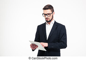 Handsome businessman using tablet computer - Portrait of a...