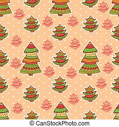 christmas pattern 4 - Set of christmas vector seamless...