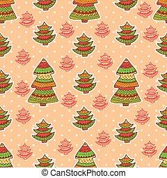 christmas pattern 4 - Set of christmas vector seamless...