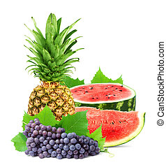 Colorful healthy fresh fruit.