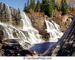 Wide Angle of Gooseberry Falls - Northern Minnesota