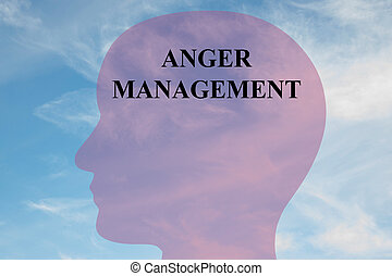 Anger Management concept - Render illustration of Anger...