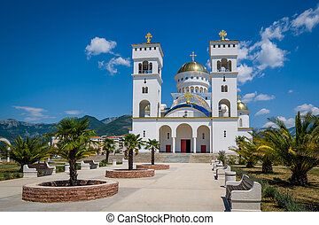Cathedral of St Jovan Vladimir in Montenegro. - Palm...