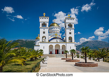 Cathedral of Saint Jovan Vladimir's Temple in Bar. -...