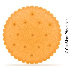 crispy biscuit cookie vector illustration isolated on gray...