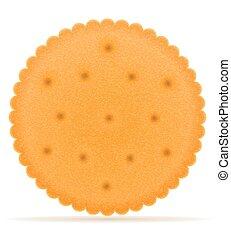 Crispy, biscoito, vetorial, biscoito, Ilustração
