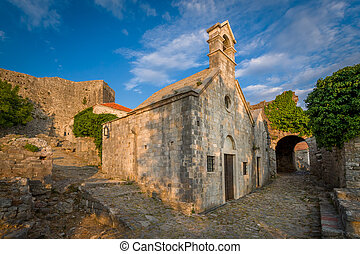 Old chapel of St Jovan at Bar fortress, Montenegro - Old...
