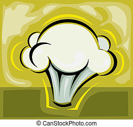 Cauliflower - Illustration of cauliflower in yellow...