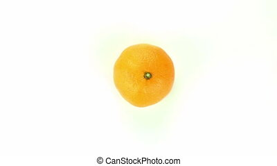 Orange mandarine - isolated on white background