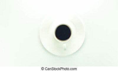 Cup of instant coffee - video on white background