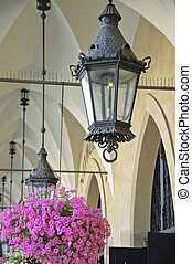 Old Lantern - The old lantern under the arches of the Krakow...