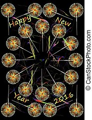 Sparkler - New Years attraction Sparkler with tinsel on a...