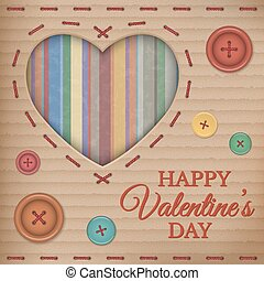 Valentines Day cardboard card