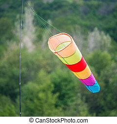 el, colorido, viento, vane.,