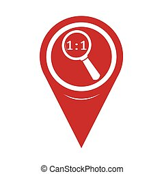 Map Pin Pointer Magnifying Glass Icon