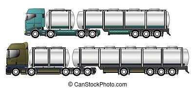 Commercial tankers with dromedary tractors - Commercial...