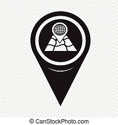 Map Pin Pointer icon
