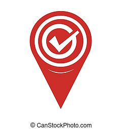 Map Pin Pointer Tick icon