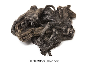 Arsenic gray piece of Australian sheep wool Merino breed...
