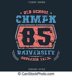 University sports emblem