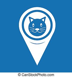 Map Pin Pointer Cat icon