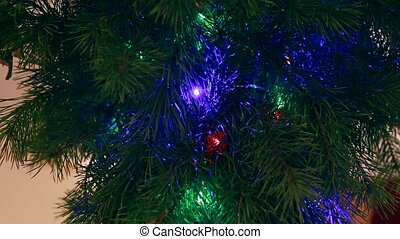new year, a branch of pine garlands wink Ukraine