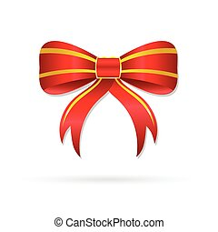 bow vector red illustration