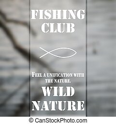 Fishing Club 3 - Poster of fishing club, background of the...