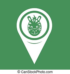 Map Pin Pointer Giraffe Face Icon