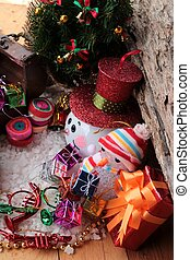 Festival of Christmas gifts and decorations xmas day -...
